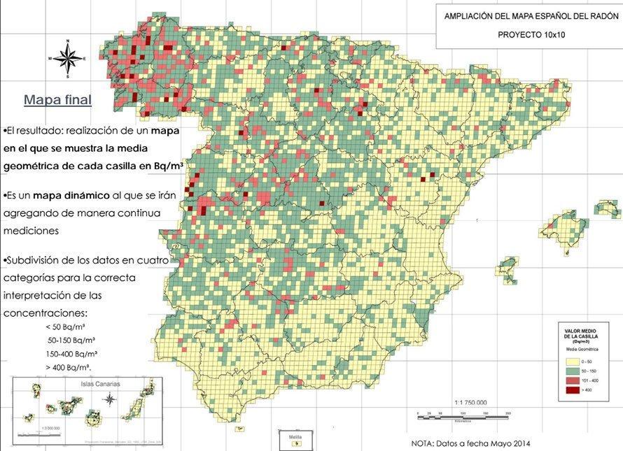 Mapa Del Radon En Espana.Radon El Gas Radiactivo Que Se Acumula En Tu Sotano