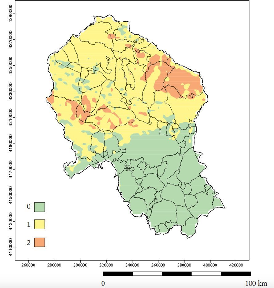 Mapa Provincia De Cordoba España.Radon El Gas Radiactivo Que Se Acumula En Tu Sotano