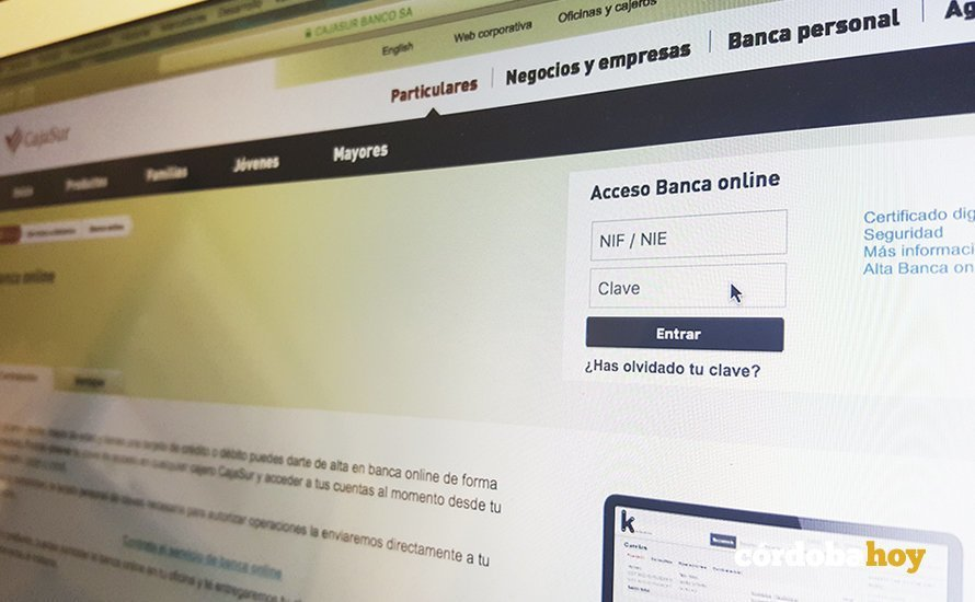 Banca on line de Cajasur 1