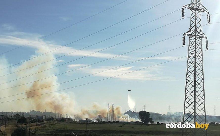 Nuevo incendio esta misma tarde en la zona de Alcolea