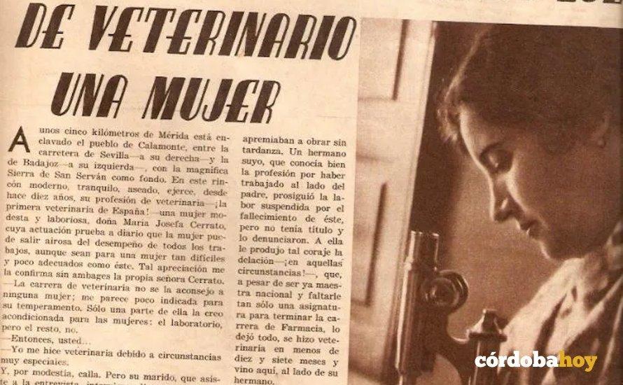 María Cerrato en una revista