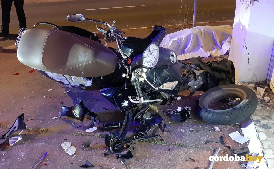 Moto implicada en el accidente mortal